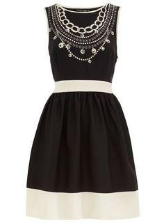Dorothy Perkins  Black necklace print dress