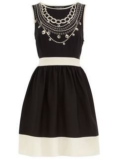 Dorothy Perkins  Black necklace print dress