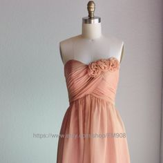Bridesmaid Dress/sweetheart dress/strapless  dress/knee length/Strapless Prom/ handmade flower gray Wedding(B001)RENZ/FM908