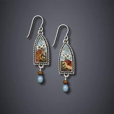 Canterbury Tales Earrings - bijou graphique