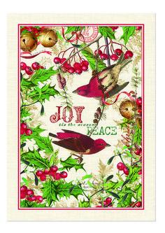 Michel Design Works Cotton Kitchen Tea Towel Christmas Mistletoe & Holly - NEW #MichelDesignWoks