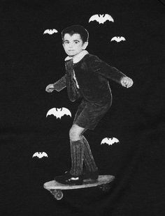Eddie Munster of The Munsters black and white Munsters Tv Show, The Munsters, Herman Munster, Vampire Bat, Classic Monsters, Vintage Horror, Stuff And Thangs, Classic Tv, Vintage Halloween