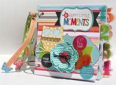 My Creative Scrapbook September Album kit designed by Kristin Greenwood.