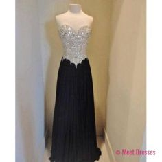 Simple Prom Dresses,Strapless Prom Dress,Beaded Prom Gown,Black Prom Gowns,Elegant Evening Dress,Sparkle Evening Gowns,2018 Evening Gowns,Crystals Prom Dress PD20184783