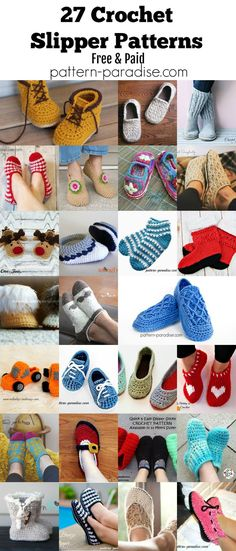 Crochet Finds - Crocheted Slippers!   Pattern Paradise