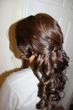 homecoming prom hairstyle done by me