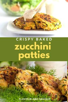 These Crispy Baked Zucchini Patties make a healthy, gluten-free, make-ahead meal. Get the instructions for properly draining zucchini to get crispy patties. Serve with lemon tahini dip! #glutenfree #zucchini #baked #fritters Zucchini Muffins, Zucchini Quiche, Zucchini Patties, Gluten Free Recipes Side Dishes, Gluten Free Recipes For Dinner, Dinner Recipes, Healthy Zucchini, Healthy Vegetables, Veggies