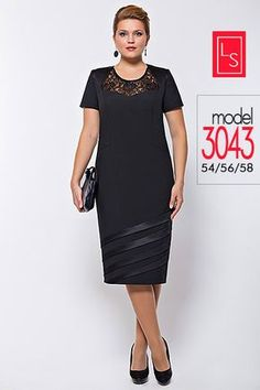 Dresses for full fashionistas of the Belarusian brand Lady Secret. Modelos Plus Size, Vintage Inspired Dresses, Mothers Dresses, African Fashion Dresses, Special Occasion Dresses, I Dress, Dress Patterns, Plus Size Dresses, Plus Size Fashion