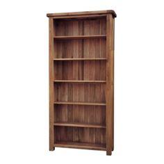 Rustic Solid Oak SRDK50 6FT Bookcase www.easyfurn.co.uk Wide Bookcase, Etagere Bookcase, Corner Display Unit, Cube Unit, Homestead Living, Oak Color, Hazelwood Home, High Quality Furniture, Diy Woodworking