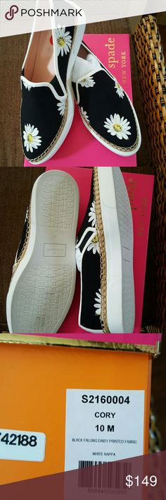 NIB Kate Spade Cory Daisy sneakers dod Awesome sneakers from this season. They kind of look like an espadrille. At today's price they may not be bundled and no offers please. kate spade Shoes Sneakers