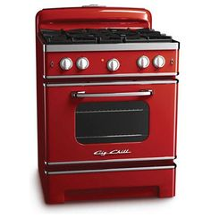 Gah! I must have this cherry red gas stove! Modern ovens by Big Chill