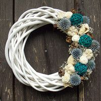 Prodané zboží uživatele nika127   Fler.cz Door Wreaths, Grapevine Wreath, Grape Vines, Crochet Necklace, Diy, Jewelry, Decor, Artificial Flowers, Wreaths