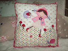 Gisela Graham Strawberry Patch Cushion