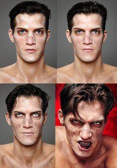 Makeup artist Neil Morrill,Zombie Boy Kryolan.