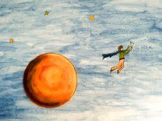 anna olmo - murales in abitazione privata - Il Piccolo Principe