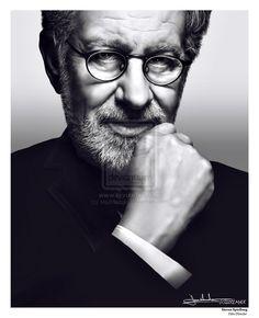 Steven Spielberg - Film Director Portrait by ~MaxHitman on deviantART Film Images, Steven Spielberg, Golden Age Of Hollywood, Film Director, Male Face, Online Art Gallery, Filmmaking, Movie Tv, The Past