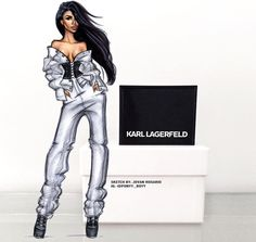 Aaliyah x Karl Lagerfield by @ponyy_boyy| Be Inspirational ❥|Mz. Manerz: Being well dressed is a beautiful form of confidence, happiness & politeness