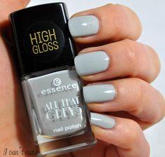 essence, all that greys, nailpolish, greyt times, essence cosmetics, nails, nailart, grey, high gloss, nagellack, blogger, blog, beauty bolgger