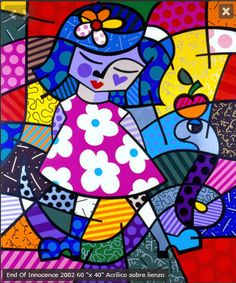 Romero Britto, a marriage between Cubism and Pop Art Pintura Graffiti, Graffiti Painting, Arte Pop, Art Zombie, Art Parisien, Paper Architecture, Art Web, Paris Art, Inspiration Art