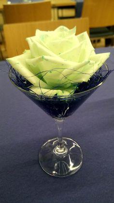 Cocktail glass decoration.