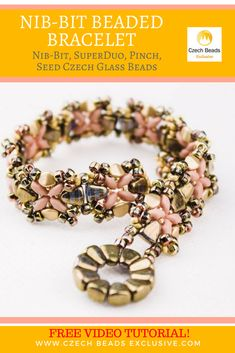 Nib-Bit, SuperDuo, Pinch, Seed Czech Glass Beads � Beaded Bracelet Free Pattern Video Tutorial SAVE IT! #czechbeadsexclusive #czechbeads