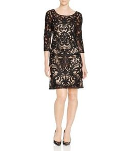 Sue Wong Three-Quarter Sleeve Lace Dress   Bloomingdale's