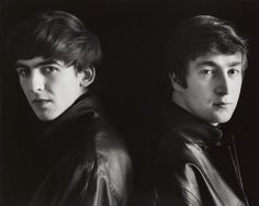 "George Harrison and John Lennon, Hamburg, 1962, photographed by Astrid Kirchherr ""December 9, 1980. The police and media have gathered in ... The #Beatles #Quiz"