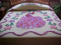 Another beautiful peacock bedspread...