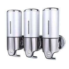 Fuloon Wall Mount Soap Dispenser Hand Bathroom Kitchen Liquid Lotion Bottle Shampoo Shower Gel Box Stainless Steel ABS (Silver), http://www.amazon.com/dp/B00ZOWIP92/ref=cm_sw_r_pi_awdm_hXGNwb1T2YCDQ
