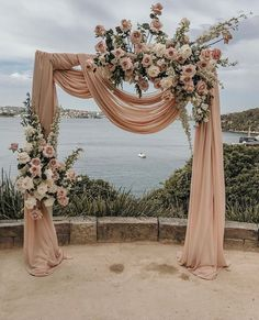 Wedding arch with draping blush fabric and monochromatic blush flowers arch blush Floral Wedding Arch Wedding decor Metal Wedding Arch Ceremony Arch Wedding Backdrop Wedding Photo bo Metal Wedding Arch, Wedding Altars, Wedding Ceremony Decorations, Wedding Arches, 1950s Wedding Decorations, Wedding Ceremony Floral Arch, Wedding Draping, Church Decorations, Floral Wedding