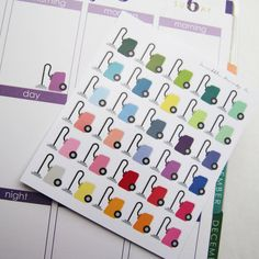 30 Vacuum Cleaner Die-Cut Stickers // (Perfect for Erin Condren Life Planners)