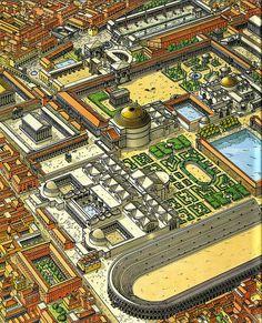 Rome. Quartier du Panthéon