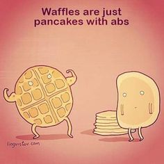 Throwback to this waffle abs pic we posted a few months ago!! Too funny!