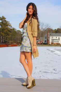 Beige-zara-coat-blue-cynthia-steffe-dress-beige-jeffrey-campbell-shoes