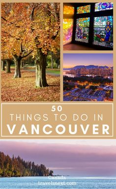 50 Incredible Things To Do In Vancouver. Vancouver is a city for all seasons with surprises around every corner. Whether it's a long lunch in a fine restaurant or an invigorating mountain hike, there are lots of cool things to do in Vancouver for everyone. #vancouver #travel #canada #britishcolumbia #northamerica #thingstodo #city Canada Travel, Travel Usa, Cool Places To Visit, Places To Travel, Amazing Destinations, Travel Destinations, Vancouver Travel, Travel Guides, Travel Tips