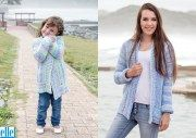 Quick Cardi Brand: Elle Yarn: Mischief Size From: 61 cm Size To: 137 cm Sweater Knitting Patterns, Chunky Yarn, Baby Patterns, Baby Kids, Lady, Crochet, Sweaters, Jackets, Free