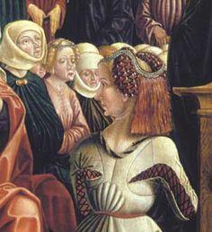Unbedecktes Haar war das Kennzeichen der noch unverheirateten Frau, der Jungfrau. Es wurde offen getragen, mit Kränzen, Gold und Perlenschnüren geschmückt oder zu kunstvollen Frisuren aufgesteckt.