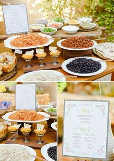 Wedding Food I've had family over for a taco buffet, but not like this amazing taco bar! How to set up a taco bar - How to make your own taco bar free taco bar printables. Such a great idea for a bridal shower or even for your wedding. Party Fiesta, Party Ideas, Bunco Ideas, Sweet 16, Fingers Food, Fiestas Party, Food Stations, Cooking, Gastronomia
