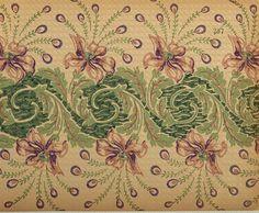 Liberty flower ornamental border, bordo ornamentale liberty fiore – Imagesfashiontextiles