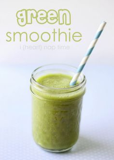 Favorite green smoothie recipe ...you won't even know there is spinach in there!