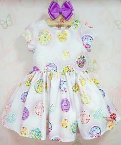 Vestido Infantil Lilás Confetes Mon Sucré
