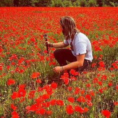 Keith posted: Shooting today in France for Harkin Headquarters. This poppy field was something else.