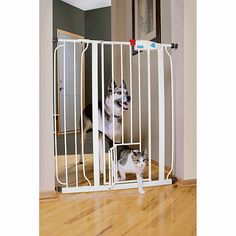 Carlson Pet Products Reja Expandible Extra Alta Con Puerta Mini Para Mascota
