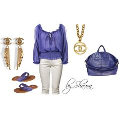 periwinkle with Chanel, created by shauna-rogers on Polyvore