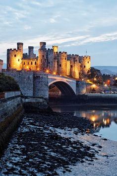 13th century Conwy Castle, Conwy, North Wales, UK