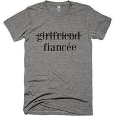 These fun fiancee shirts are a great idea for engagement gifts for couples - perfect for them to wear to a casual engagement party or when celebrating their upcoming wedding. Brother Wedding Gifts, Wedding Gifts For Bride And Groom, Wedding Gifts For Couples, Unique Wedding Gifts, Gifts For Brother, Gifts For Wedding Party, Bride Gifts, Trendy Wedding, Bride Groom