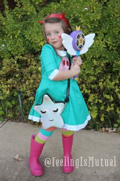 Adeline's finished costume! Star Butterfly from Star vs Forces of Evil, 2016