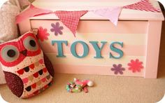 Cute idea for a little girl's toy chest