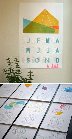 2013 Calendar by Laura Brown; Geometry by Paper Boat Studios