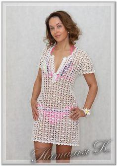 Crochet Beach Dress, Crochet Summer Dresses, Crochet Tunic, Crochet Clothes, Crochet Lace, Crochet Bikini, Crochet Cover Up, Diy Dress, Beautiful Crochet